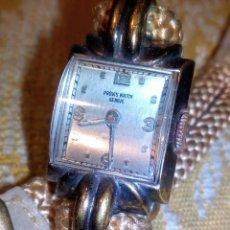 Relojes de pulsera: ~~~~ ANTIGUO RELOJ SUIZO DECÓ DE SEÑORA CARGA MANUAL,PLAQUE ORO, EN FUNCIONAMIENTO, MIDE 19 CM. ~~~~. Lote 242895775