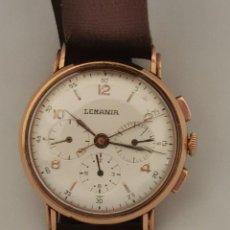 Relojes de pulsera: RELOJ CRONOGRAFO DE ORO 18K LEMANIA CALIBRE 27CH. Lote 243920940