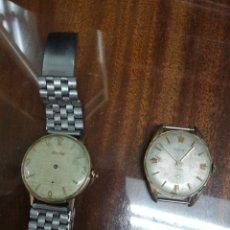 Orologi da polso: 2 RELOJES ANTIGUOS DE CABALLERO INCOMPLETOS. Lote 243962595