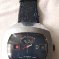 Relojes de pulsera: RARO RELOJ SICURA BREITLING JUMP HOUR AÑOS 70. Lote 243971170