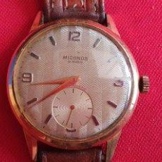 Relojes de pulsera: RELOJ MICONOS 15 RUBIS ANTIMAGNETIC FUNCIONA.MIDE 38 MM DIAMETRO. Lote 244180275
