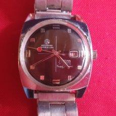 Relojes de pulsera: RELOJ MORTIMA 17 JEWELS DATOMATIC FUNCIONA. MIDE 34 MM DIAMETRO. Lote 244492075