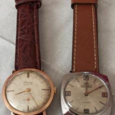 Relojes de pulsera: 2 RELOJES UN CAUNY SEDUCION 15 RUBIS Y UNO COMET 17 RUBIS CUERDAS. Lote 244501490