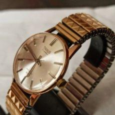 Relojes de pulsera: RELOJ TANUS 17 JEWELS ANCRES CHAPADO 10 MICRAS ORO FUNCIONA BIEN. Lote 245079055