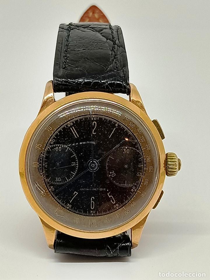 Relojes de pulsera: Reloj cronografo antiguo - Foto 2 - 245248745