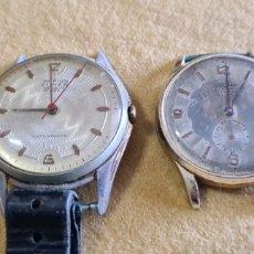 Relojes de pulsera: PAREJA DE RELOJES A CUERDA PARA REVISAR Y REPARAR. Lote 246262985