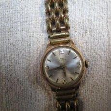Relojes de pulsera: RELOJ SUIZO PULSERA SEÑORA MARCA ' ROX ' 17 RUBIS, CAJA CHAPADA ORO, 60'S FUNCIONANDO + INFO. Lote 10277051