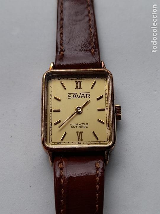 RELOJ MARCA SAVAR. CLÁSICO DE DAMA. FUNCIONANDO. (Relojes - Pulsera Carga Manual)