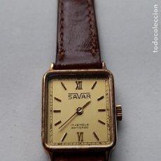Relojes de pulsera: RELOJ MARCA SAVAR. CLÁSICO DE DAMA. FUNCIONANDO.. Lote 249040525
