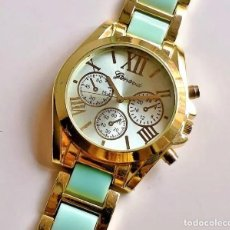 Relojes de pulsera: RELOJ QUARTZ GENEVA - CAJA DE 42.MM DIAMETRO. Lote 249053895
