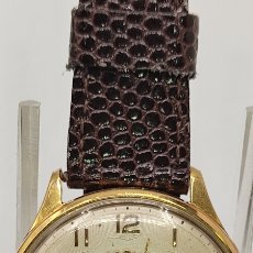 Relojes de pulsera: RELOJ DE PULSERA DOGMA PRIMA. ANCRE 15 RUBIS. PLAQUÉ ORO 10 MICRAS. DIÁMETRO 37,16 SIN CORONA.. Lote 251172915