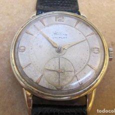 Relojes de pulsera: ANTIGUO RELOJ DE CUERDA HALCON 15 RUBIS CON PLAQUE DE ORO DE 10 MICRONES. Lote 252589140
