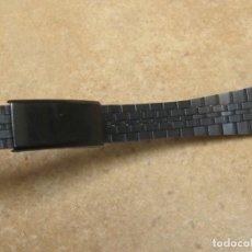 Relojes de pulsera: ANTIGUA CORREA DE ACERO EN NEGRO PAVONADO DE ALTA CALIDAD DE LOS AÑOS 70. Lote 253940040