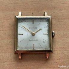 Relojes de pulsera: DUWARD DIPLOMÁTIC 17 JEWELS PLAQUE OR 10G 26MM FUNCIONA. Lote 254049865