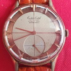 Relógios de pulso: RELOJ CRISTAL WATCH 15 RUBIS LE LOCLE ANCRE ANTIMAGNETIC FUNCIONA.MIDE 39 MM DIAMETRO. Lote 254501255