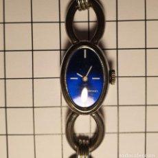 Relojes de pulsera: BELLO RELOJ PULSERA VINTAGE DE SEÑORA MARCA DIAMANT CARGA MANUAL Y NUEVO A ESTRENAR 2X3,5 CM. Lote 229111125