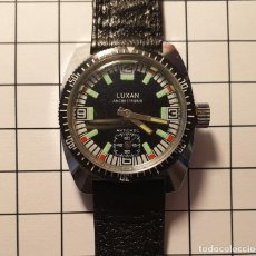 Relógios de pulso: RELOJ LUXAN VINTAGE CARGA MANUAL 17 RUBIS ANTICHOC NUEVO SUBMARINISMO - 3,5X3,5 CM. Lote 228957450