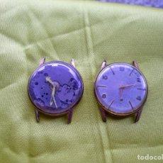 Relojes de pulsera: DOS ANTIGUOS RELOJES DE CUERDA DE 17 RUBIS Y 21 RUBIS MADE IN SWISS. Lote 255659320