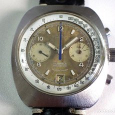 Relojes de pulsera: CHRONOGRAPH VINTAGE OVER SIZE, ALL STAINLESS STEEL SWISS MADE VALJOUX 7734. Lote 255917430