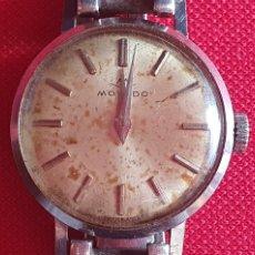Relojes de pulsera: RELOJ MOVADO PULSERA DE PLATA FUNCIONA.MIDE 22.1MM DIAMETRO. Lote 255935415