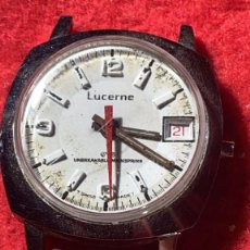 Relojes de pulsera: RELOJ ANTIGUO LUCERNE NO FUNCIONA. Lote 255959990