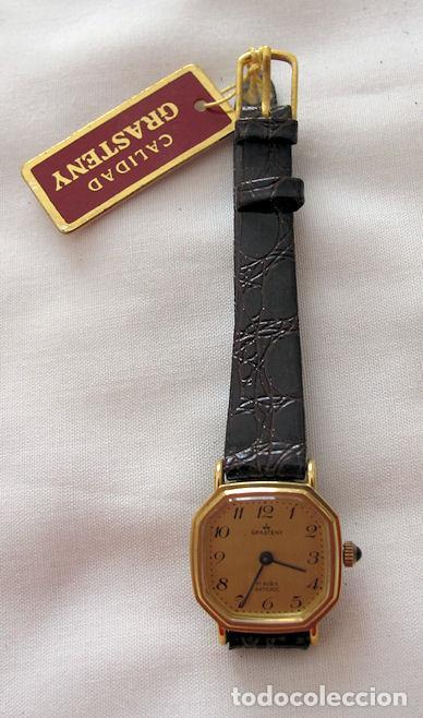 Relojes de pulsera: RELOJ DE CUERDA GRASTENY NOS OCTOGONAL - Foto 2 - 256043795