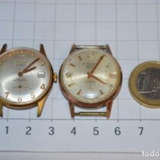 Relojes de pulsera: VINTAGE 2 RELOJES DE PULSERA - DOGMA Y CAUNI / MADE IN SWISS / - CARGA MANUAL - ¡MIRA!. Lote 256149990