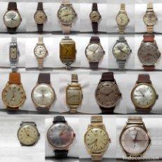 Relojes de pulsera: LOTE 21 RELOJES AÑOS 30-40-50-60-FUNCIONAN-FLICA-EXACTUS-RADIANT-FORSAN-CAUNY-PIERCE-MERCURY-DURSAN. Lote 258770160