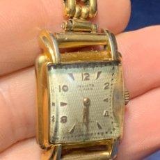 Relojes de pulsera: RELOJ MUJER SEÑORA MATAL DORADO INVICTA FUNCIONA MITAD S XX 25X25MM. Lote 258832930