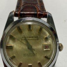Relógios de pulso: RELOJ HOLCANSTAR CARGA MANUAL SUPARDATE WATERPROF. Lote 260747260