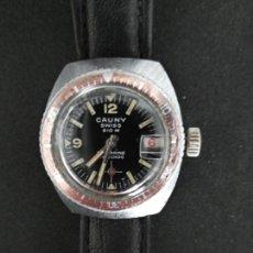Relojes de pulsera: RELOJ DE PULSERA CAUNY SWISS MADE MECANICO. Lote 261612765