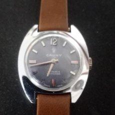 Relojes de pulsera: RELOJ DE PULSERA CAUNY SWISS MADE MECANICO. Lote 261626180