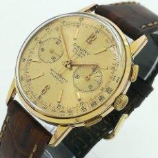 Relojes de pulsera: RELOJ DE CUERDA CAUNY PRIMA CRONÓGRAFO 37MM - LADERON 248 - RARO Y COLECCIONABLE - VINTAGE 1960'S. Lote 261933490