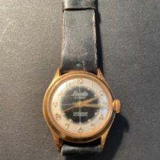 Relojes de pulsera: ANTIGUO RELOJ MECÁNICO FUNCIONANDO MARCA LINCOLN , CHAPADO 3 CM.. Lote 262274275