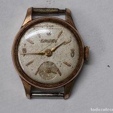 Relojes de pulsera: ANTIGUO RELOJ SEÑORA - CAUNY . PLAQUE ORO 10 G -MAQUINARIA DOGMA 15 RUBIS . CARGA MANUAL - FUNCIONA. Lote 262535790
