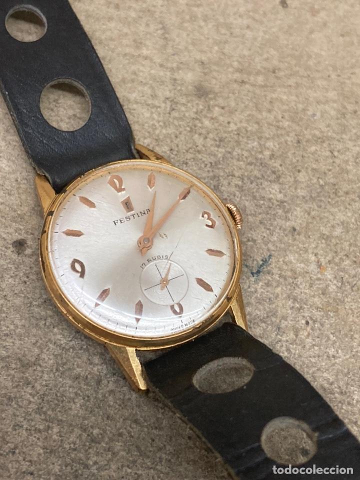 Relojes de pulsera: Reloj Festina carga manual en funcionamiento caja chapada - Foto 2 - 262759395