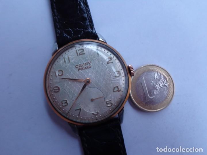 AÑOS 50 BONITO RELOJ CABALLERO A CUERDA CAUNY FUNCIONANDO PERFECTO BUEN ESTADO (Relojes - Pulsera Carga Manual)