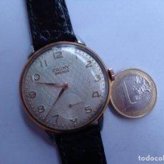 Relojes de pulsera: AÑOS 50 BONITO RELOJ CABALLERO A CUERDA CAUNY FUNCIONANDO PERFECTO BUEN ESTADO. Lote 262771045