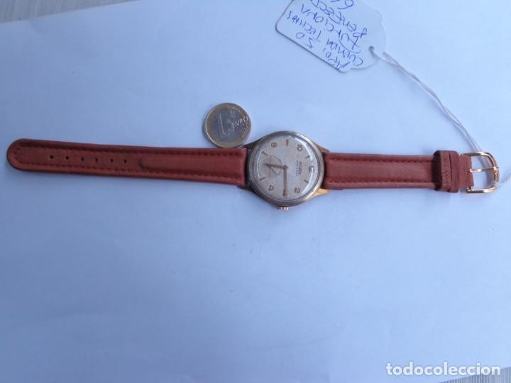 Relojes de pulsera: AÑOS 50 BONITO RELOJ CABALLERO A CUERDA TECHNOS FUNCIONANDO PERFECTO BUEN ESTADO - Foto 2 - 262771575