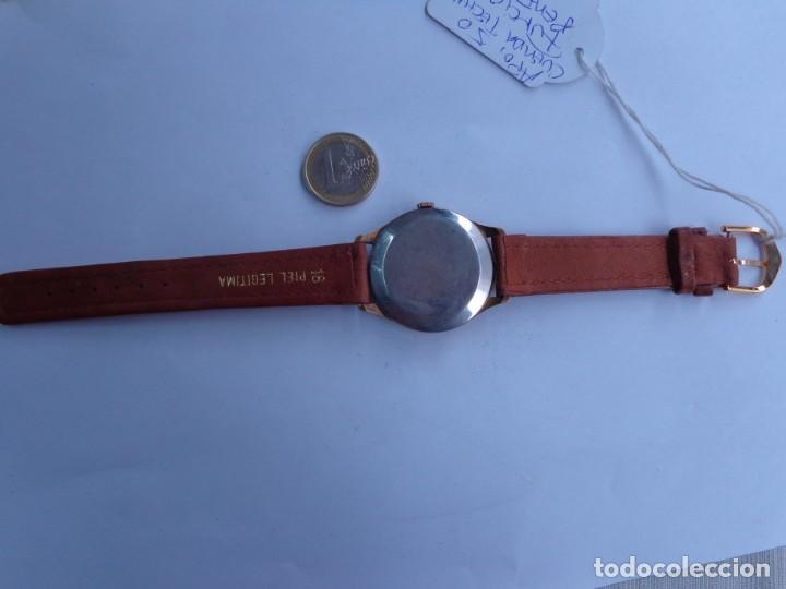Relojes de pulsera: AÑOS 50 BONITO RELOJ CABALLERO A CUERDA TECHNOS FUNCIONANDO PERFECTO BUEN ESTADO - Foto 3 - 262771575