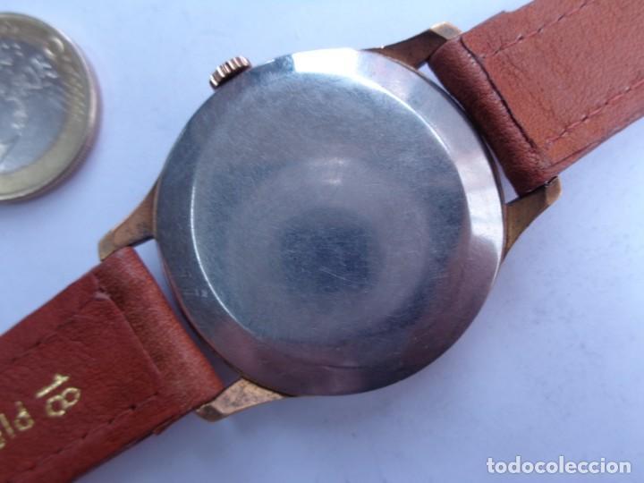 Relojes de pulsera: AÑOS 50 BONITO RELOJ CABALLERO A CUERDA TECHNOS FUNCIONANDO PERFECTO BUEN ESTADO - Foto 4 - 262771575