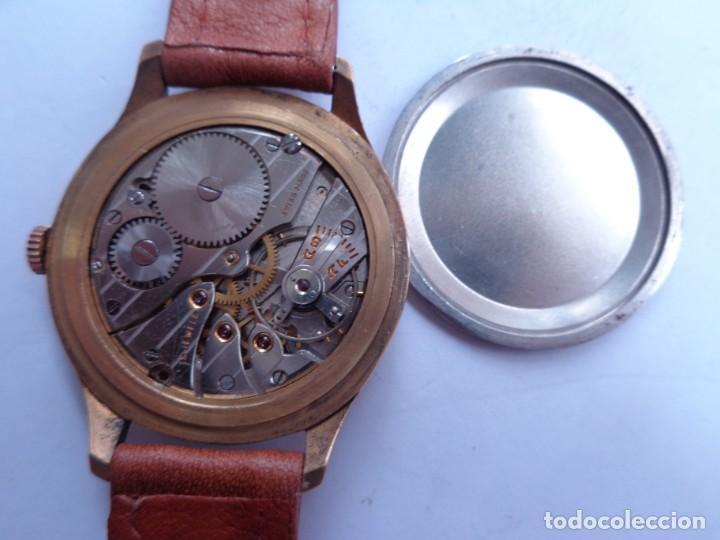Relojes de pulsera: AÑOS 50 BONITO RELOJ CABALLERO A CUERDA TECHNOS FUNCIONANDO PERFECTO BUEN ESTADO - Foto 5 - 262771575