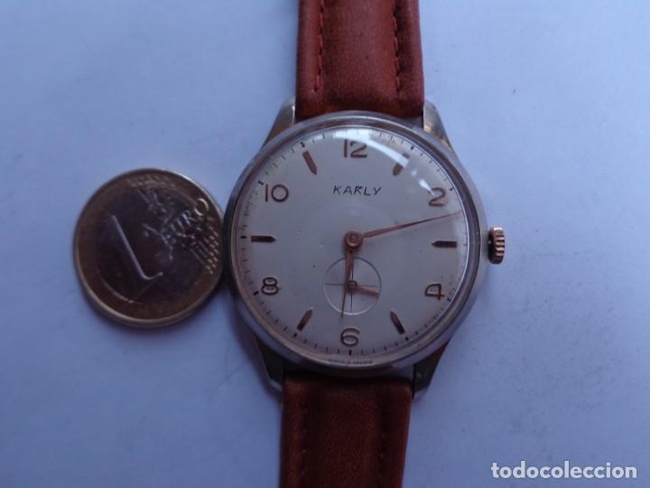 AÑOS 60 RELOJ CABALLERO CUERDA KARLY BUEN ESTADO COMPLETO Y FUNCIONANDO PERFECTO (Relojes - Pulsera Carga Manual)