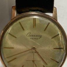 Relojes de pulsera: RELOJ CAUNY PRIMA DE LUXE 290 CAJA CHAPADA ORO 10 MICRAS EN FUNCIONAMIENTO. Lote 262778795