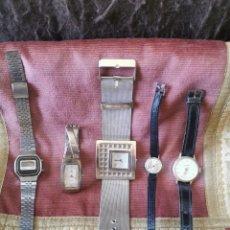 Relojes de pulsera: LOTE 5 RELOJES DE PULSERA, AÑOS 70-80.. Lote 262866060