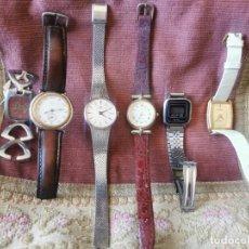 Relojes de pulsera: LOTE 6 RELOJES DE PULSERA ANTIGUOS. AÑOS 70-80-90. Lote 262867505