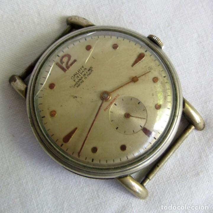 RELOJ DE PULSERA CAUNY PRIMA LA CHAUX DE FONDS, FUNCIONANDO (Relojes - Pulsera Carga Manual)