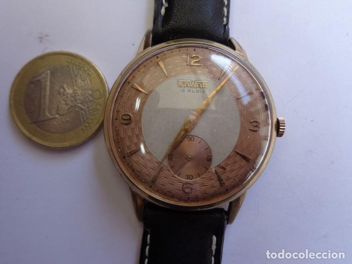 AÑOS 50 BONITO RELOJ CABALLERO A CUERDA SAVAR FUNCIONANDO PERFECTO BUEN ESTADO (Relojes - Pulsera Carga Manual)