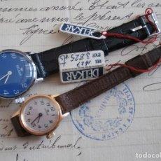 Relojes de pulsera: 2 RELOJES NUEVOS DE MUJER - CARGA MANUAL - MARCA ( DELKAR ) - FUNCIONANDO-.. Lote 264314372