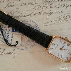 Relojes de pulsera: RELOJ DORADO NUEVO - DE MUJER CUERDA MANUAL - MARCA TECHNOS - FUNCIONA BIEN.. Lote 264768304